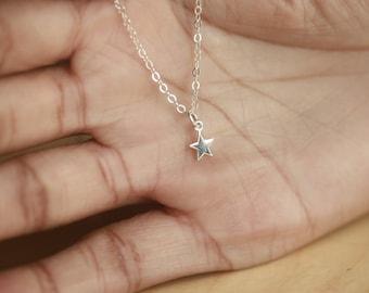 Silver Star Necklace, Tiny Star Necklace, Dainty Star Necklace, Star Charm Necklace, Twinkle Star Necklace, Delicate Necklace, Tiny Necklace