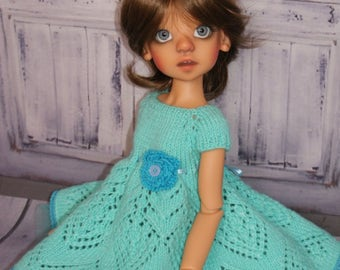 Hand Knitted Dress for Kaye Wiggs doll (MSD 45) cm