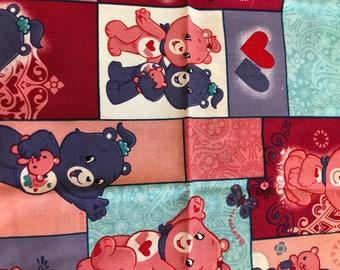 Care Bear Fat Quarter Cotton Fabric 500mm x 500mm