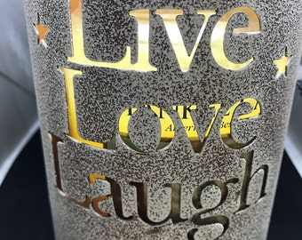 SALE Live Love Laugh Large Candle Holder