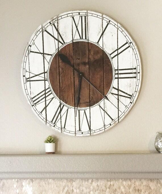 Farmhouse Style Wooden Pallet Kat Clock 6 sizes