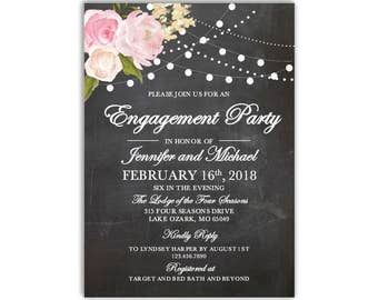 Kate engagement party invitation template were engaged engagement party invitation template diy engagement invite cheap invitation floral invitation instant stopboris Gallery