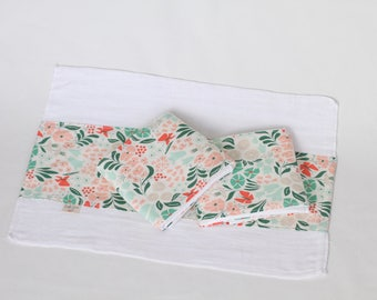 Floral Organic Burp Cloth Set (3)