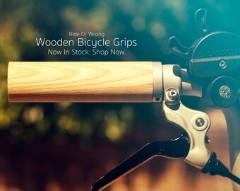 Wooden Bicycle / Brompton (Rack) Grips - Ash