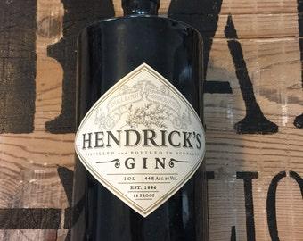 Hendrick's Gin - Empty bottle - rustic centerpiec