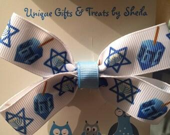Hanukkah (Chanukah) Hair Bow