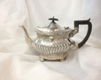 H L & Co Glasgow, England  Silver Plate Teapot, Hamilton Laidlaw and Company Silver Plated  Display, Centerpiece Flower Vase