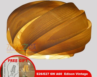 NEST Pendant Lights,made of real American ash veneer,Eco-friendly,design lamp,dining room light,ceiling light,Lighting,pendant light