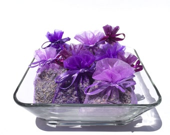50 Lavender Wedding Favors, Lavender Sachets, Choose Color