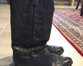 Navy blue cowboy boots