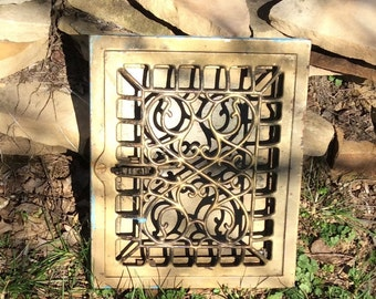 Vintage Floor Grate, Decorative Grate, Wall Decor, Ornate Grate, Working Grate, Antique Grate, Vintage Heater Grate, Architectural Salvage
