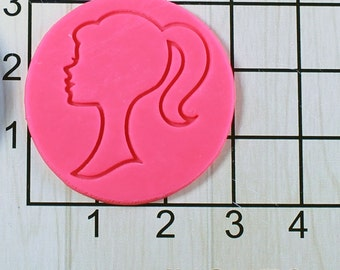 Barbie Doll Head Shaped Fondant Cookie Cutter and Stamp #1516
