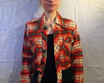 1960s Plaid Jacket
