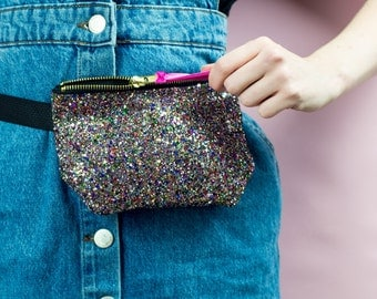 Multi Glitter Party Bum Bag (Fanny Pack)