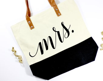 Mrs. Honeymoon Tote - Bride Tote - Mrs. Bag - Honeymoon Bag - Mrs. Tote - Future Mrs Gift - Bride Gift