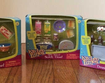 Vintage Tyco Kitchen Littles New In Boxes