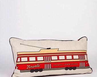 Toronto Streetcar Pillow