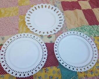 Vintage Milk glass Plates