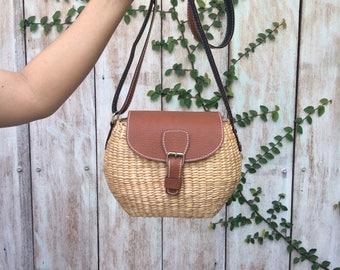 Small Straw Bag / straw handbag / Summer Hand bag / straw tote / straw purse