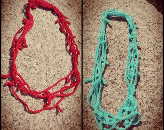 Coral Crochet Necklaces
