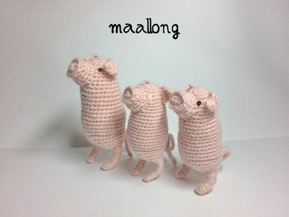 Pig amigurumi crochet pattern   animal figure  soft