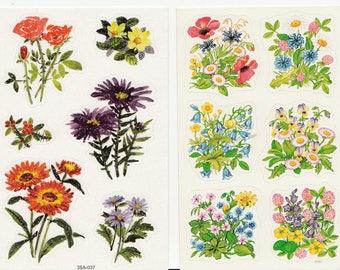Vintage Mini Flowers  Stickers Sheet