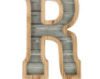 Galvanized Metal Letters Classy Galvanized Letters  Etsy Decorating Design