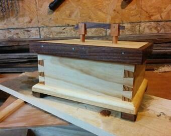 Pine Box with Walnut trim