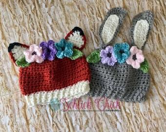 Woodland flower crown hat
