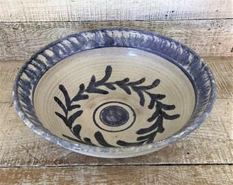 Pottery Bowl Vintage Homemade Stoneware Serving Bowl Vintage Wheel Thrown Bowl Vintage Ceramic Fruit Bowl Vintage Salad Bowl Wedding Gift