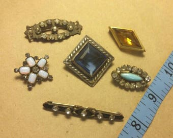 Jewelry Destash Six Antique Brooches/Pins
