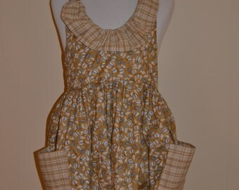 Autumn Gourds Full Apron with Ruffle