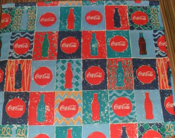 Original Coke Cola Cotton Fabric