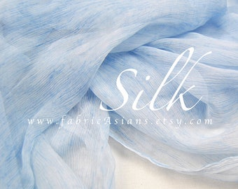 Light blue chiffon Crinkled Chiffon by the yard