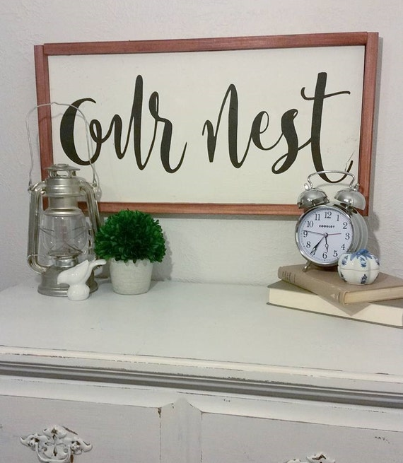 Our Nest Wood Sign {Customizable}