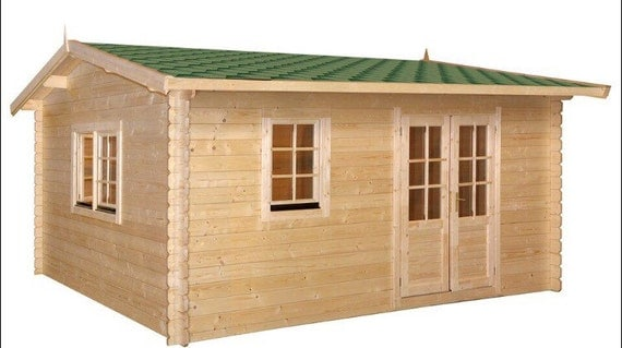Eureka guest house kit storage shed kit wooden cabin for Shed guest house kit