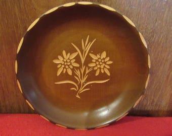 Handgeschnitzt Oberammergau hand carved German dish