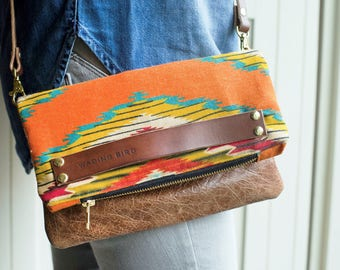 leather crossbody handbag, handbag, clutch bag, clutch, leather bag, evening clutch, crossbody bag, aztec bag. boho handbag