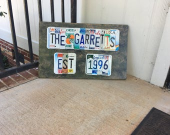 License Plate Art / Signs - **NEW**  Double Sign!!