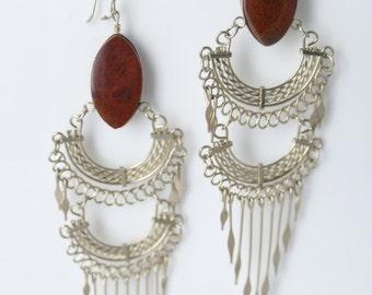 Metalwork Earrings / Boho Jewelry / Ethnic Jewelry / Bohemian Earrings / Boho Jewelry / Gypsy Earrings // Dangle Earrings // Jewelry // P1