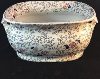 Rare English Foot Bath In The Lady Peel Pattern From 1845
