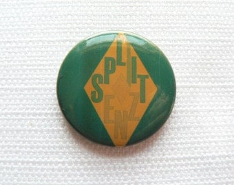 Vintage Early 80s Split Enz Pin / Button / Badge