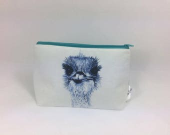 Emu makeup bag
