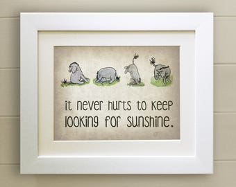 Winnie the Pooh QUOTE PRINT, Birth, Christening, Nursery Picture Gift, Pooh Bear, *UNFRAMED* Eeyore, Beautiful Gift