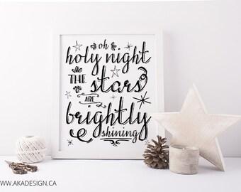 Oh Holy Night Digital Art Print