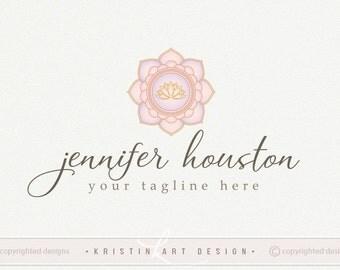 Mandala logo, Lotus logo design, Yoga logo, Handwritten logo, Spiritual logo design, Logo design, Watermark 547