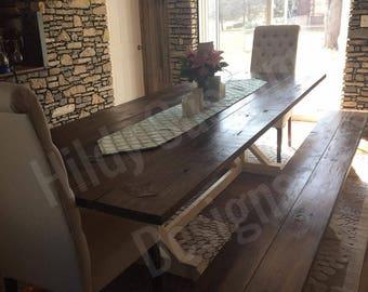 Rustic Farmhouse Table, Farmhouse Table, Country Table, Family Table, Custom Farmhouse Table, LOCAL PICK UP Ohio, Indiana, Kentucky