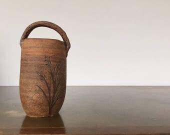 Japanese Studio Pottery Vase w/ Handle