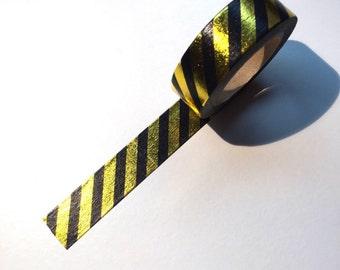 Black & gold foil washi tape