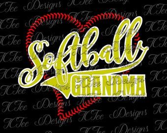 Softball Grandma - SVG Design Download - Vector Cut File
